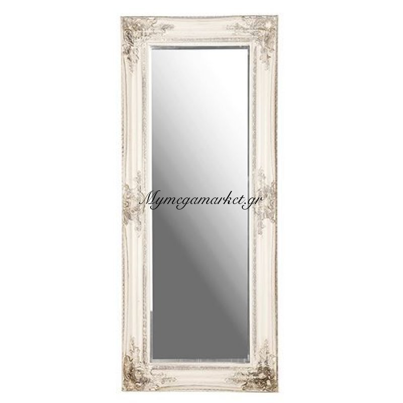 Ορθογώνιος ξύλινος καθρέπτης τοίχου πατίνα - Nava
