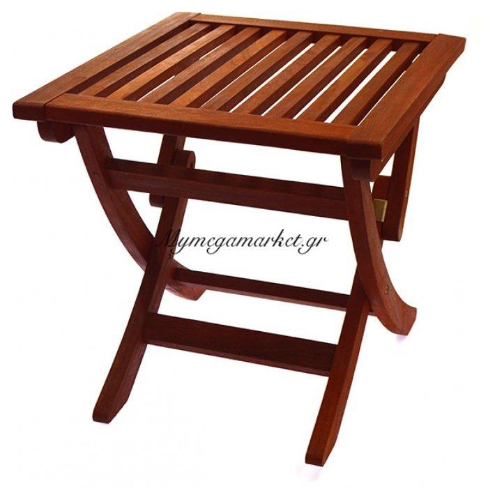 Tραπέζι πτυσσόμενο ξύλινο βοηθητικό κήπου everton red balau TAB-EVTS5/RG - Epam | Mymegamarket.gr