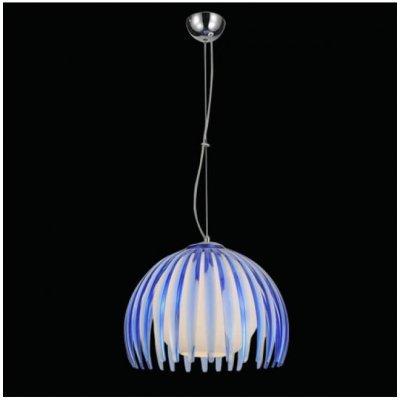Φωτιστικό οροφής μονόφωτο με μπλέ plexiglass και γυαλί
