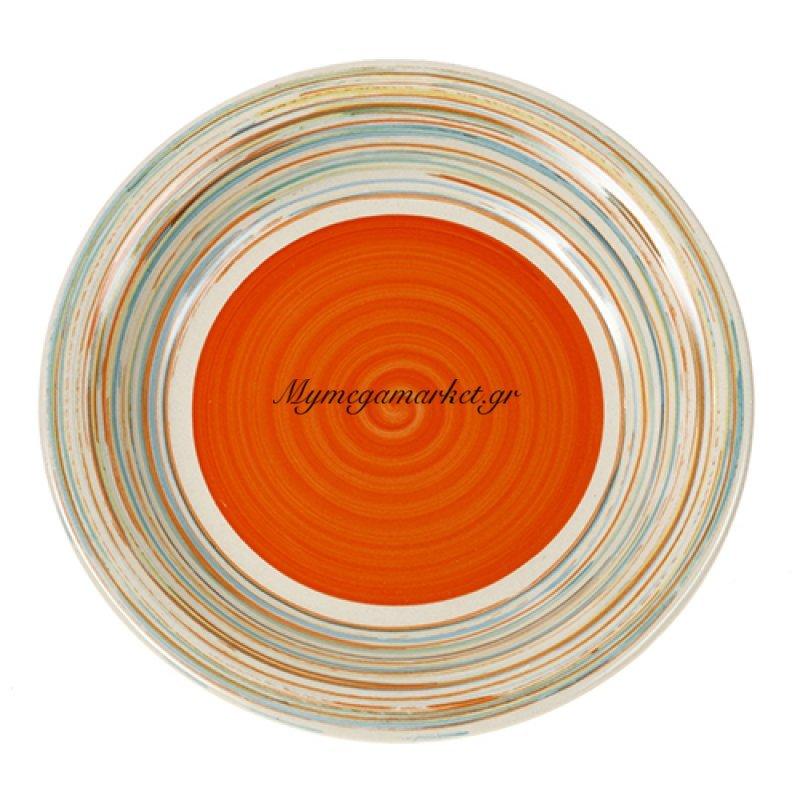 Πιάτο φρούτου stoneware line-orange 20.5cm Nava by Mymegamarket.gr
