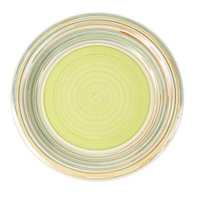 Πιάτο ρηχό stoneware line-green 27cm Nava