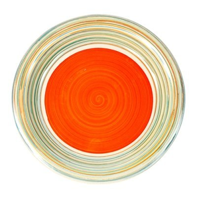 Πιάτο ρηχό stoneware line-orange 27cm Nava