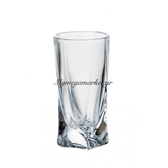 Ποτήρι λικέρ κρυστάλλινο 50ml Bohemia Quadro | Mymegamarket.gr