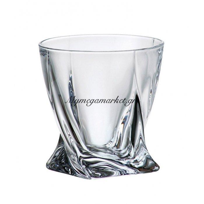 Ποτήρι ουϊσκι κρυστάλλινο 340ml Bohemia Quadro | Mymegamarket.gr