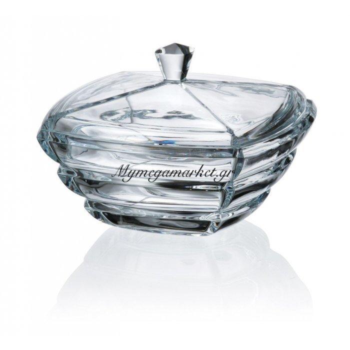 Φοντανιέρα κρυστάλλινη Bohemia 20,5cm Segment | Mymegamarket.gr
