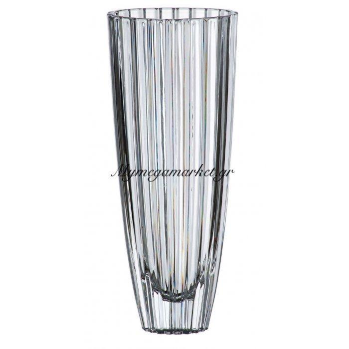 Βάζο κρυστάλλινο Bohemia 35,5cm Oval | Mymegamarket.gr