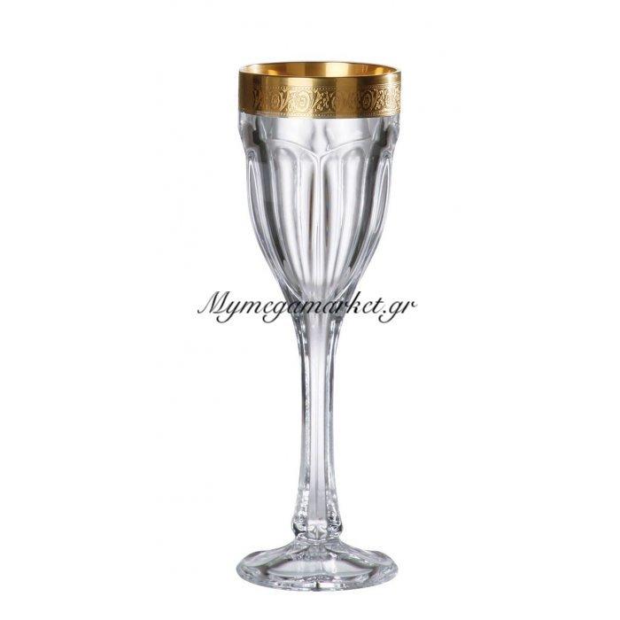 Ποτήρι λικέρ με πόδι κρυστάλλινο Bohemia 50ml Safari-Gold | Mymegamarket.gr