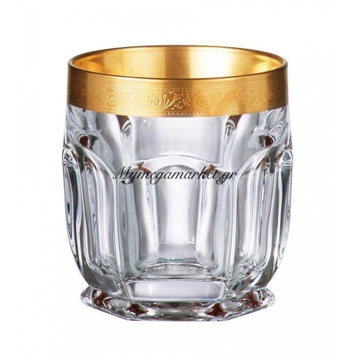 Ποτήρι ουϊσκι κρυστάλλινο Bohemia 250ml Safari-Gold | Mymegamarket.gr