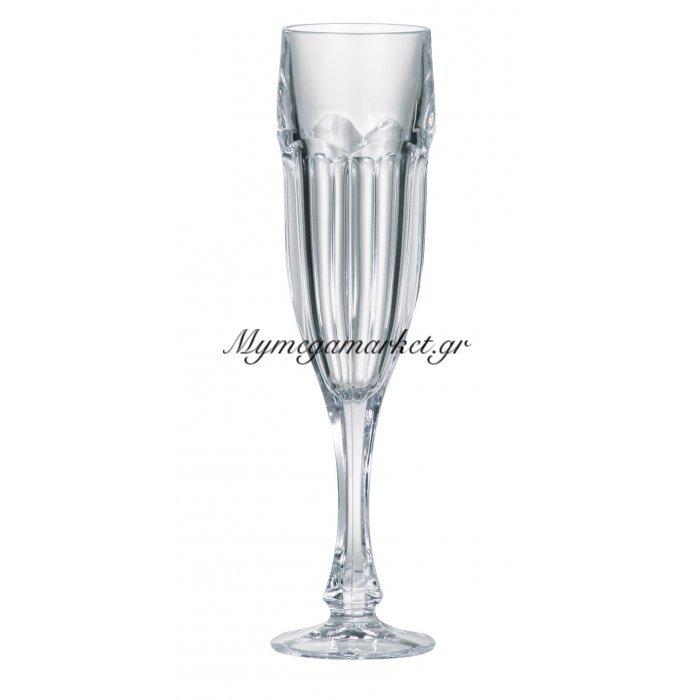 Ποτήρι ούζου με πόδι κρυστάλλινο Bohemia 150ml Safari