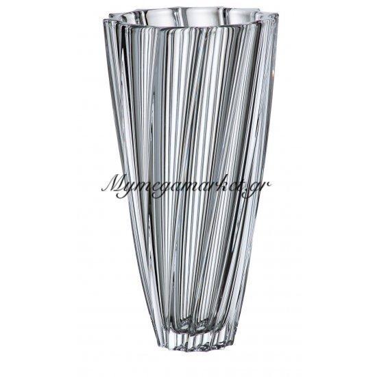 Βάζο κρυστάλλινο Bohemia 30,5cm Scallop Στην κατηγορία Βάζα κρυστάλλινα Bohemia | Mymegamarket.gr