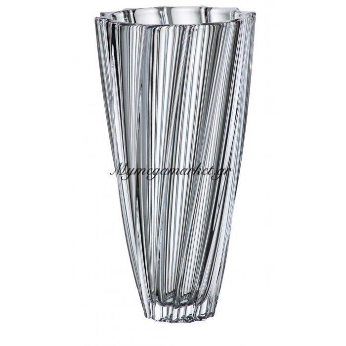 Βάζο κρυστάλλινο Bohemia 30,5cm Scallop | Mymegamarket.gr