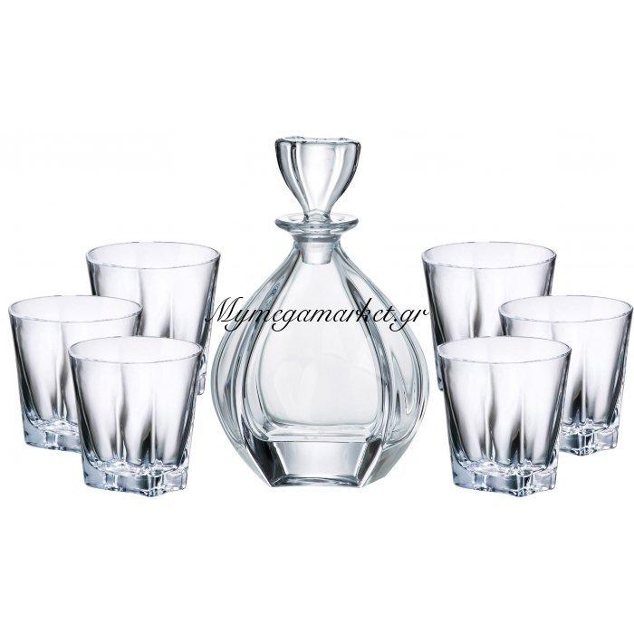 Σέτ μποτίλια με 6 ποτήρια κρυστάλλινα Bohemia Laguna | Mymegamarket.gr