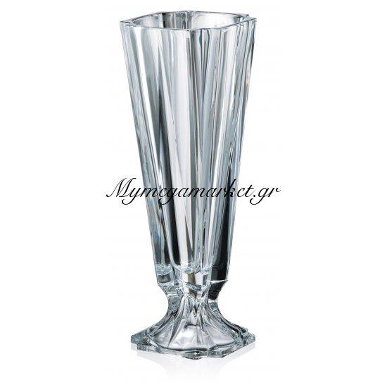 Βάζο με πόδι κρυστάλλινο Bohemia 43,5cm Metropolitan Στην κατηγορία Βάζα κρυστάλλινα Bohemia | Mymegamarket.gr