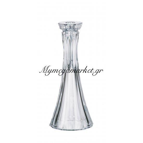 Κηροπήγειο κρυστάλλινο Bohemia 25,5cm Wellington Στην κατηγορία Κρυστάλλινα κηροπήγια Bohemia   Mymegamarket.gr