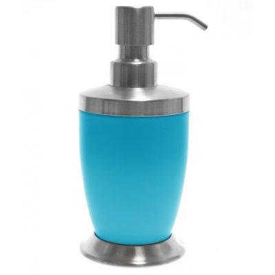 Αντλία κρεμοσάπουνου με γαλάζιο χρώμα & inox λεπτομέρειες