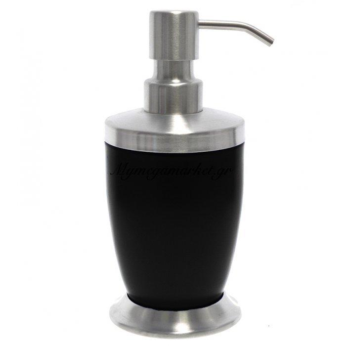 Αντλία κρεμοσάπουνου με μαύρο χρώμα & inox λεπτομέρειες | Mymegamarket.gr
