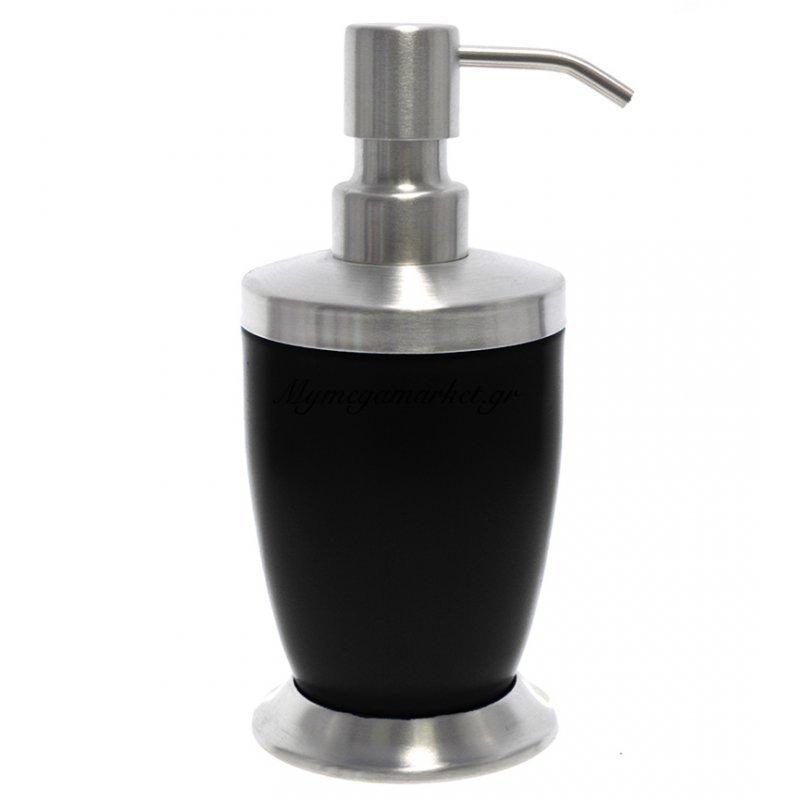 Αντλία κρεμοσάπουνου με μαύρο χρώμα & inox λεπτομέρειες