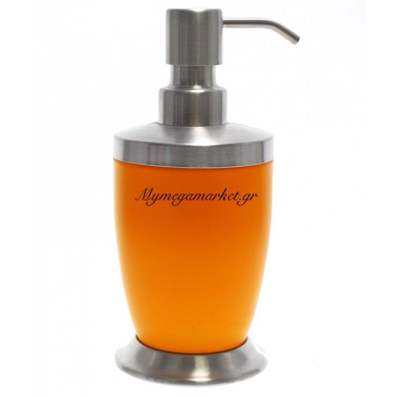 Αντλία κρεμοσάπουνου με πορτοκαλί χρώμα & inox λεπτομέρειες