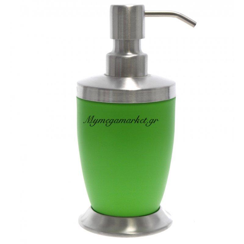 Αντλία κρεμοσάπουνου με πράσινο χρώμα & inox λεπτομέρειες