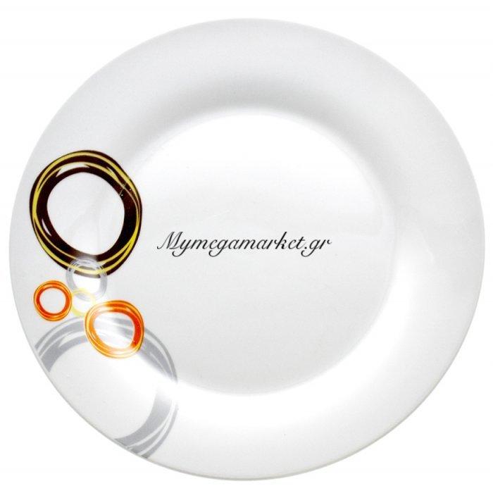 Πιάτο φαγητού πορσελάνης με σχέδιο κρίκους | Mymegamarket.gr