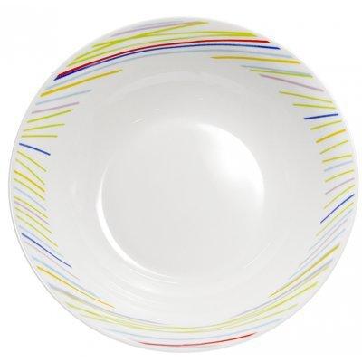Σαλατιέρα πορσελάνης με χρωματιστές γραμμές