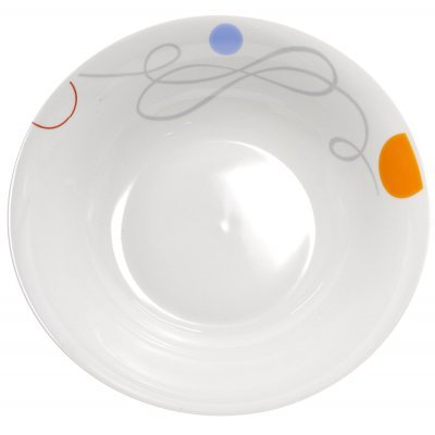 Σαλατιέρα πορσελάνης με σχέδιο γραμμές και κύκλους
