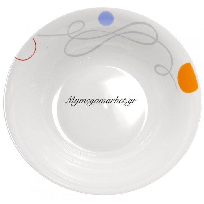 Σαλατιέρα πορσελάνης με σχέδιο γραμμές και κύκλους | Mymegamarket.gr