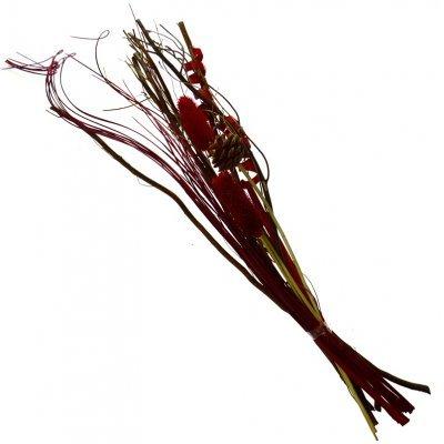 Σύνθεση αποξηραμένων λουλουδιών κόκκινο ZLG33-4RED