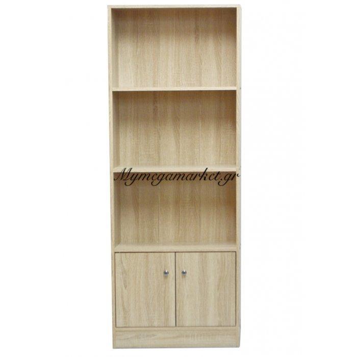 Ραφιέρα ξύλινη με ντουλάπι σε φυσικό χρώμα - Mdf HL1176 | Mymegamarket.gr