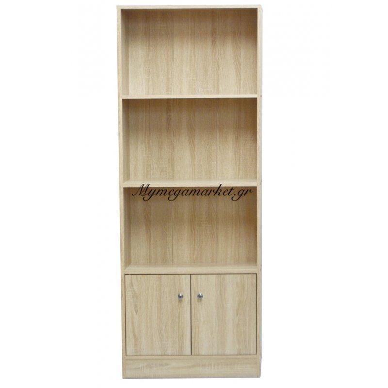 Ραφιέρα ξύλινη με ντουλάπι σε φυσικό χρώμα - Mdf HL1176