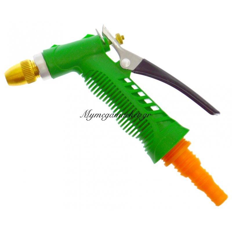 Πιστόλι πίεσης πλαστικό με μέταλλο για λάστιχο ποτίσματος