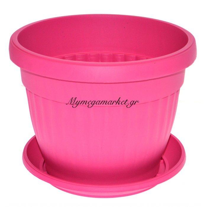Γλάστρα πλαστική με πιάτο - Φούξια - No 18 | Mymegamarket.gr