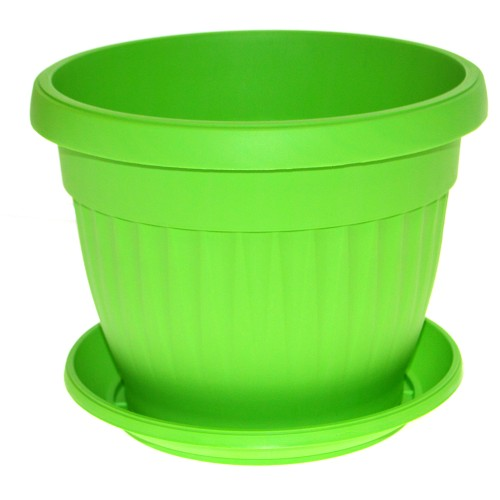 Γλάστρα πλαστική με πιάτο - Λαχανί - No 18