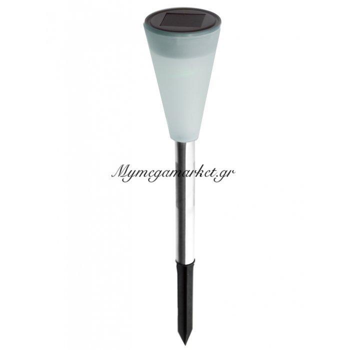 Φανάρι ηλιακό - Stainless steel - Led με εναλλαγές χρωμάτων | Mymegamarket.gr