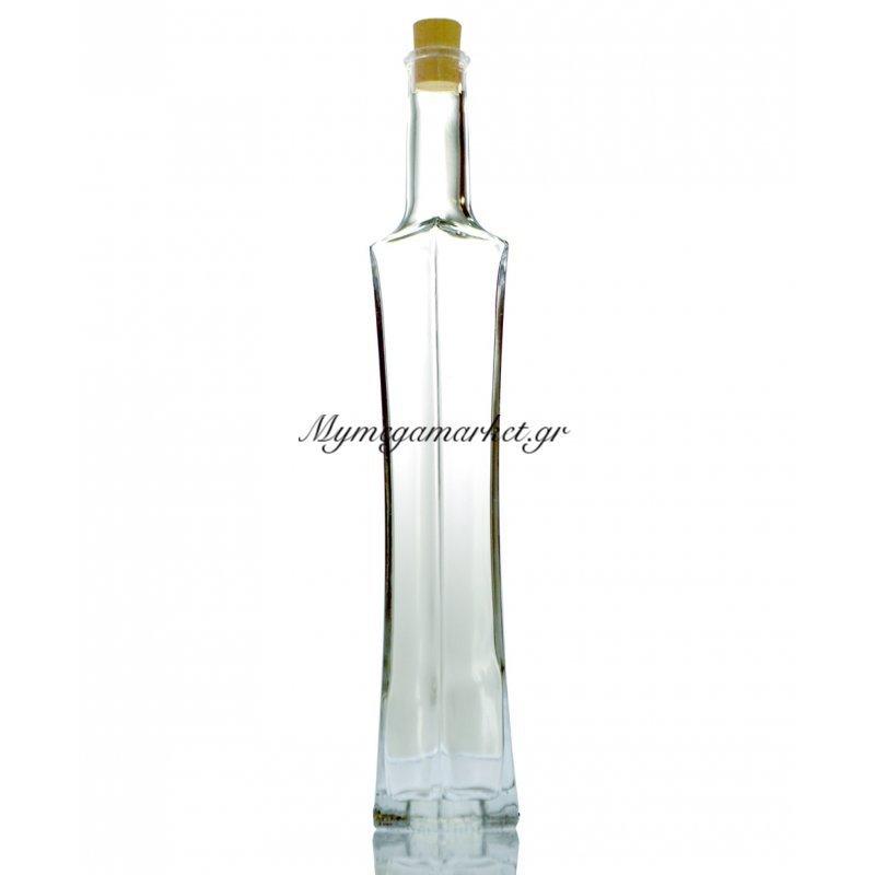 Φιάλη γυάλινη πολυτελείας με φελλό - Esmeralda - 200 ml