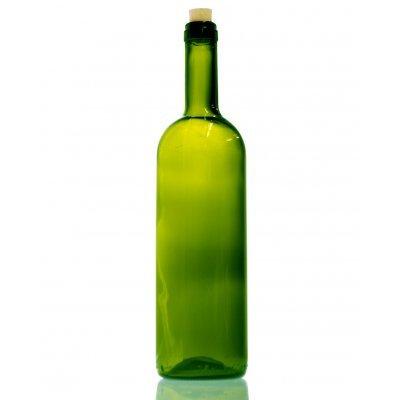 Μπουκάλι γυάλινο - πράσινο με φελλό - Leggera - 750 ml