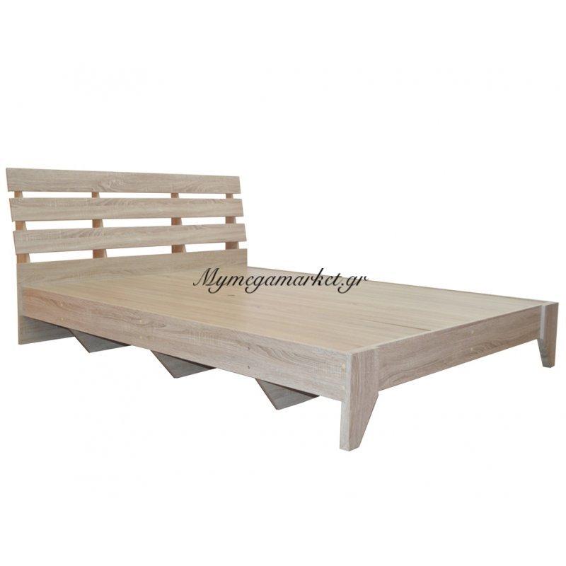 Κρεβάτι ξύλινο - Μονό - φυσικό χρώμα 100 x 196 cm - Tns - 1601-100/NAT