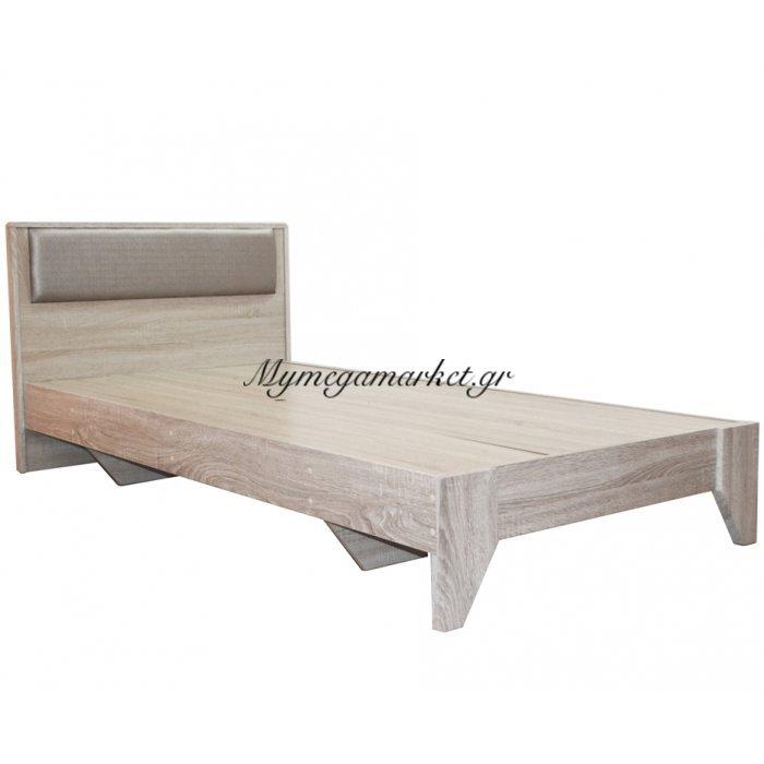 Κρεβάτι ξύλινο - μονό - φυσικό χρώμα - 100 x 196 cm - Tns - 1602-100/NAT