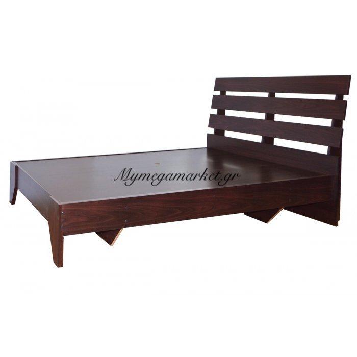 Κρεβάτι ξύλινο - Μονό - Wenge 100 x 196 cm - Tns - 1601-100/VEGE