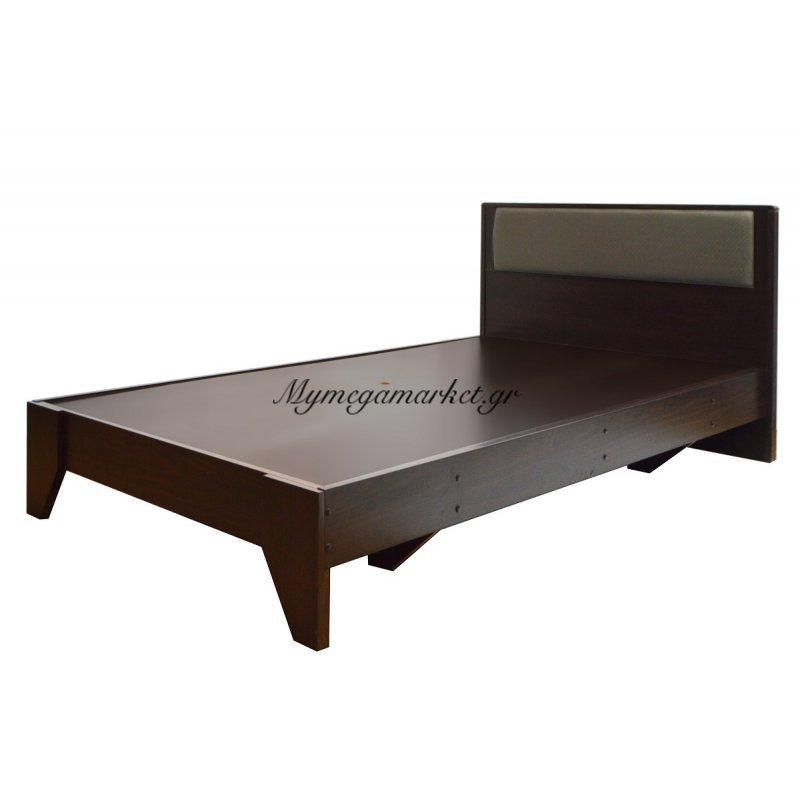 Κρεβάτι ξύλινο - μονό - Wenge - 100 x 196 cm - Tns - 1602-100/VEGE