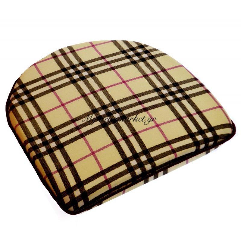 Μαξιλάρι πέταλο - Filler - Σχέδιο μπέζ - Καρώ