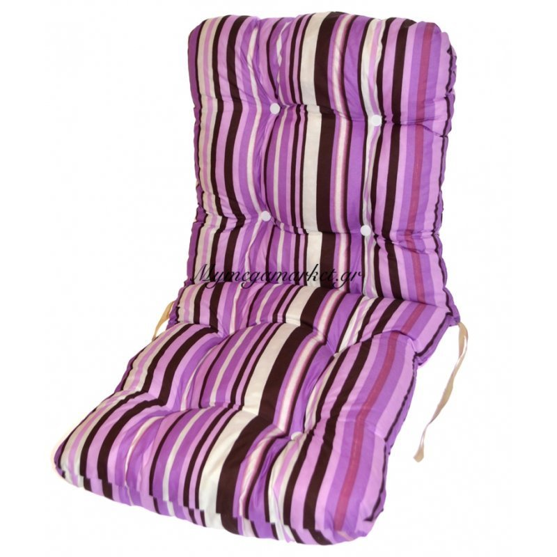 Μαξιλάρι κάθισμα με πλάτη - μπαμπού - Γραμμές μώβ