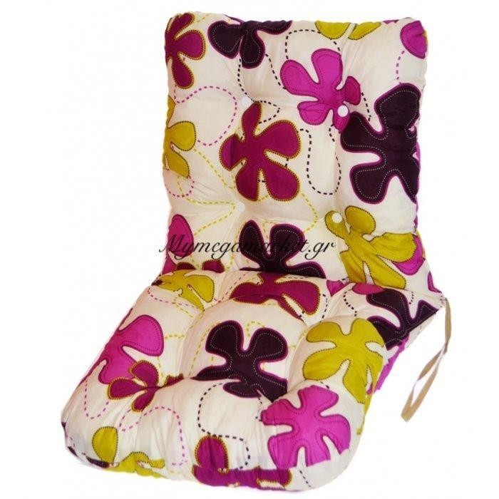 Μαξιλάρι κάθισμα με πλάτη - μπαμπού - Σχέδιο φύλλα | Mymegamarket.gr