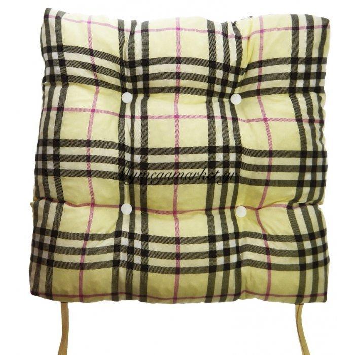 Μαξιλάρι κάθισμα - μπαμπού - Σχέδιο καρώ | Mymegamarket.gr