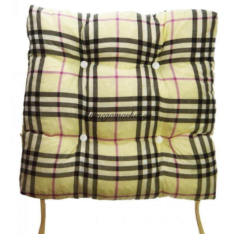 Μαξιλάρι κάθισμα - μπαμπού - Σχέδιο καρώ