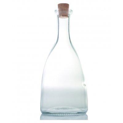 Φιάλη γυάλινη με φελλό - Violet - 250 ml