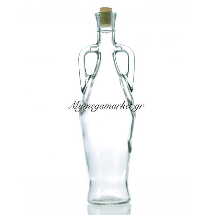 Μπουκάλι γυάλινο - 2 χερούλια Grecevskay με φελλό - 750 ml