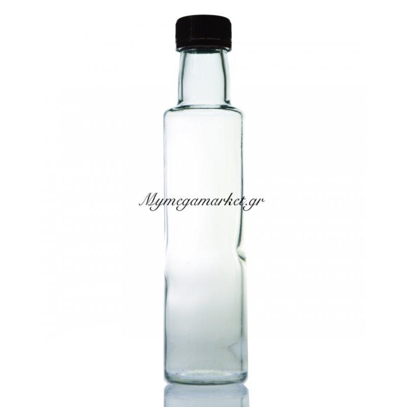 Μπουκάλι γυάλινο - στρογγυλό με βιδωτό καπάκι - Donica - 750 ml