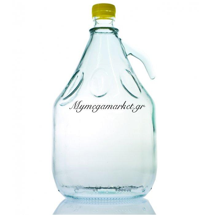 Νταμιτζάνα γυάλινη με πλαστικό - Βιδωτό καπάκι - 3 Λίτρα | Mymegamarket.gr