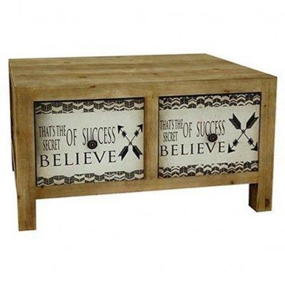 Μπουφέ -ξύλινο με 2 Συρτάρια σχέδιο γράμματα –Nava